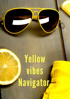 Feel the yellow vibes with 1 Day #navigator #sunglasses ! #yellow #shades #summertrends