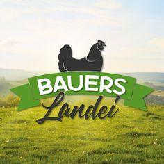 """""""Bauers Landei"""" in Lackendorf bietet Eier von richtig glücklichen Hühnern. Der mobile Hühnerstall wird regelmäßig so weiterbewegt, daß die Tiere ständig auf frischen Wiesen leben können. Das ist gut für die Hühner, gut für die Umwelt und vor allem auch gut für die Qualität der Eier. #logo #rockymedia #bauers #landei Corporate Design, Graphic Design, Logos, Mobile Chicken Coop, Life, Animales, Logo, Brand Design, Visual Communication"""