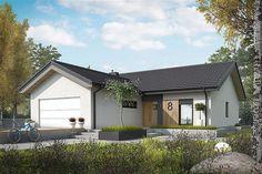 Dom Simon IV - siedem powodów, za które zimą pokochacie go jeszcze bardziej Pole Barn House Plans, Bungalow House Plans, New House Plans, House Paint Exterior, Dream House Exterior, Small House Interior Design, Modern House Design, Modern Bungalow Exterior, Garden Cabins