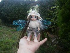 woodland fairy doll figure, clay doll, art doll,  posable doll, collectible fairy glass eyes magical fairy