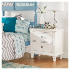Balbo 2 -Drawer Nightstand One Size -White Inspire Q, White