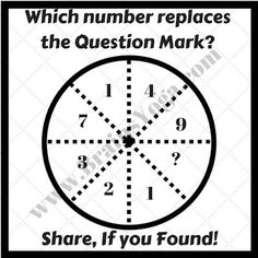 which number should replace the question mark In The