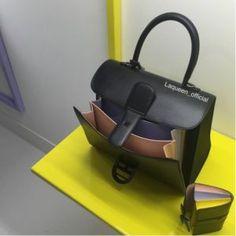 Delvaux Black Multicolor Brillant Bag and Charm - Spring 2017 Delvaux Brillant, Spring Summer, Bags 2017, Belgium, Color Mixing, Leather Bag, Handbags, Collection, Black