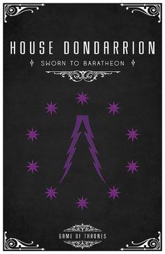House Dondarrion  Sigil - Forked Purple Lighting on a black field of Stars  Sworn to Baratheon