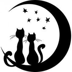 silhouette chat stylisé - Recherche Google