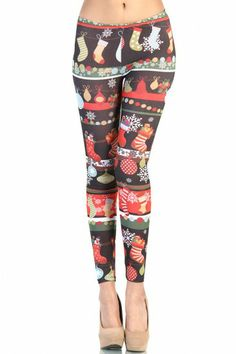 See related links to what you are looking for. Print Leggings, Black Leggings, Christmas Leggings, Christmas Outfits, I Need Dis, Love Holidays, Socks, My Style, Pants