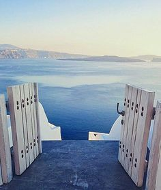 Santorini island (Σαντορίνη). Doors to heaven ... Unique Breathtaking view .
