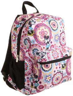 e71212692145 Amazon.com  Disney Big Girls  Allover Minnie Mouse Print Backpack
