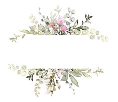 H746A (7) Watercolor Flowers, Watercolor Art, Wedding Cards, Wedding Invitations, Borders And Frames, Floral Border, Border Design, Flower Frame, Watercolor Illustration