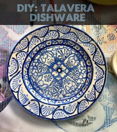 very cool diy - how to make your own talavera dishware