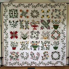 Quilting by Sun Porch quilts: Beyond the Cherry Tree quilt by Alice. Antique Quilts, Vintage Quilts, Pattern Blocks, Quilt Patterns, Embroidery Patterns, Quilting Projects, Quilting Designs, Caswell Quilt, 8 Days Of Christmas