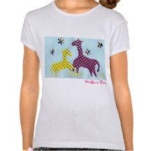 Giraffes in Dots Tee Shirt