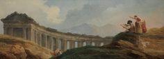 The Athenaeum - A Colonnade in Ruins (Hubert Robert - )