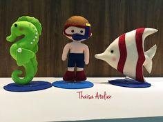 Bonecos de feltro, tema Fundo do mar!