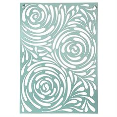 Whirlpool Lacquered Metal Wall Decor