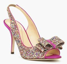 All that glitters. kate spade new york's sparkling slingbacks keep your style in the spotlight. Wear to wake up a Lbd-or pair with dazzling colors. | Glitter and satin upper, leather lining, leather s