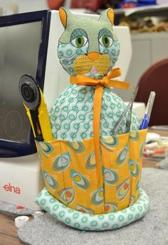Elna - United States - Sewing ideas - Sewing - Kitty Sewing Organizer