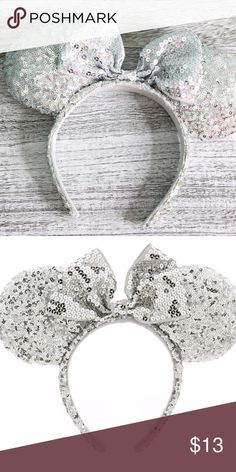 Disney World Silver Sequin Ears Good condition! No rips or damage. Purchased at Disney World. So cute Disney Accessories Hair Accessories