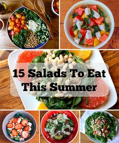 Full of fresh, seasonal fruits and veggies, these salad recipes are the perfect cure to beat the summer heat! #recipes #salads #lunches #dinners #healthy #healthyrecipes #beachbody #beachbodyblog