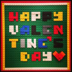 Happy valentine's day to our mammy Lego Valentines, Happy Valentines Day