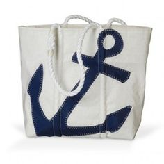 Navy Anchor Sea Bags Tote $130
