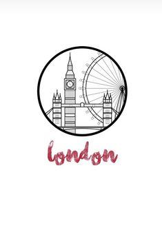 London Logo, London Icons, London Instagram, Instagram Logo, London Skyline Tattoo, Silhouette Cameo 4, London Drawing, Bicycle Tattoo, City Icon
