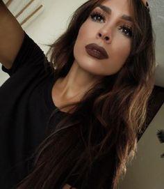 It looks INCREDIBLE with smokey eye makeup. | 23 People Who Look Drop Dead Amazing Wearing Brown Lipstick