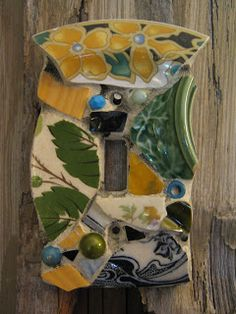 Eccentricities, Mosaics by Kelly Aaron: Switch Plates, Continued!