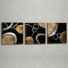 Atmosphere Modern Wall Art Set @ Touch of class online...inspiration for DIY painting on blank canvas or burlap wrapped around wooden frame?