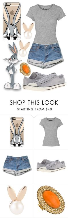"""""""Bugs Bunny"""" by laughsalotisabelle ❤ liked on Polyvore featuring Casetify, rag & bone, Converse, Aamaya by priyanka and Liz Palacios"""