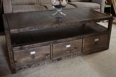 13 Free Plans to Help You Build a Coffee Table: Rhyan Coffee Table Plan from More Like Home