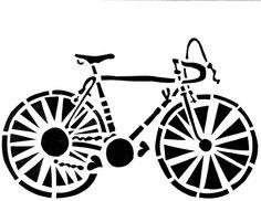 bike stencil - Google Search