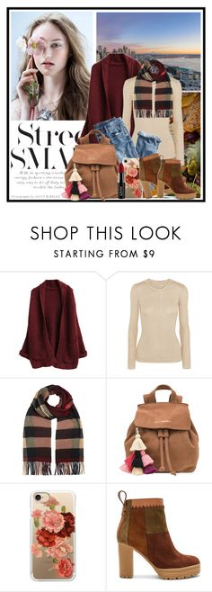 """""""Do you hear me calling out your name?"""" by sandymagdy ❤ liked on Polyvore featuring Emilia Wickstead, J.Crew, Burberry, The Wolf Gang, Casetify, See by Chloé and NYX"""