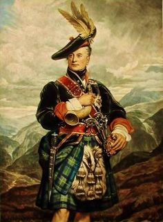 Painting of George Gordon, Duke of Gordon in highland dress. Possibly an ancestor because two George Gordon grandfathers came from the Scottish Highlands. Scottish Dress, Scottish Fashion, Scottish Culture, Scottish Clans, Scottish Highlands, Scottish Gaelic, Scottish Kilts, Highlands Scotland, Scottish Tartans