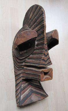 Songye Kifwebe/Kilume Mask.D.R.Congo. Wood. Mid 20th century. 64cm. Collection PD-Jipsinghuizen-NL.