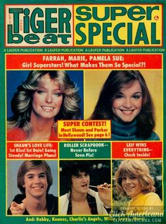 Tiger Beat magazine covers from the 1970s