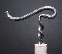 Exquisitely Hand Made Forged Wine Key Cork Screw Metal Projects, Welding Projects, Metal Crafts, Welding Tips, Wood And Metal, Metal Art, Heavy Metal, Wine Key, Blacksmith Forge