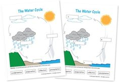 Label the Water Cycle  #watercycle #homeschool
