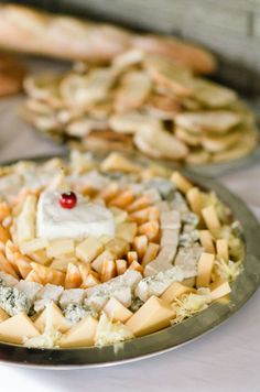Assorted cheese platters: http://www.stylemepretty.com/little-black-book-blog/2015/08/31/romantic-al-fresco-montana-wedding/ | Photography: Tamara Gruner - http://tamaragruner.com/: