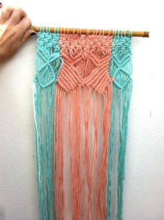 two colours macrame wall hanging