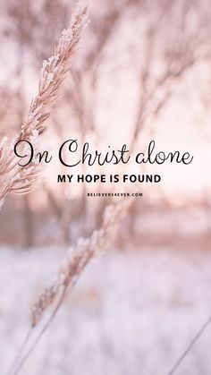 In Christ alone In Christ alone Eva Bauz evabauz Wallpaper In Christ alone my hope is found Free Mobile wallpaper background nbsp hellip backgrounds quote faith Godly Quotes, Bible Verses Quotes, Bible Scriptures, Faith Quotes, Short Bible Quotes, Jesus Bible, Christ Quotes, Short Verses, Heart Quotes