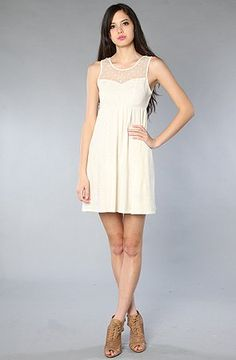 ONeill The Annette Dress in Naked White,Dresses for Women