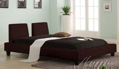 Queen Size Platform Bed in Espresso Bycast Leather -- You can get additional details at the image link.