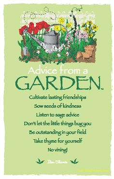Advice from a Garden