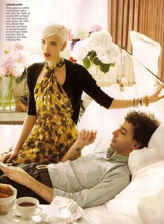 Aaagh this editorial <3 // Perfect Harmony: Agyness Deyn and Albert Hammond Jr., US Vogue, February 2009