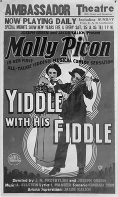Molly Picon_Ambasador Theater
