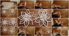 How to Make 3D Snowflakes Tutorial