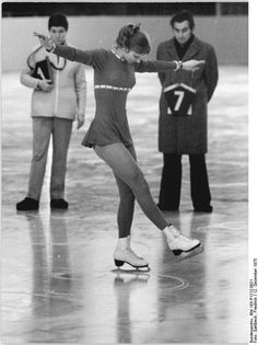 Marion Weber is judged on her School Figures, December 1975. In 1772, British skater Robert Jones published the first instructional book on ice skating, describing circles and figure eights that would become known as Compulsory (School) Figures.