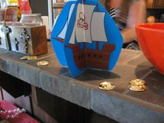 Miranda's Great Finds Pirate Baby Shower decorations