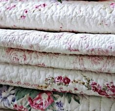 pretty #floral #blankets all folded up. #FlowerShop